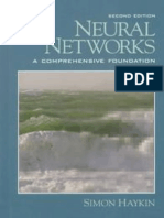 Neural Networks - A Comprehensive Foundation