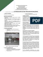 Caracterizacion de Una Fraccion Petrolifera Practica