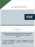 Kadar Abu Dan NaCl