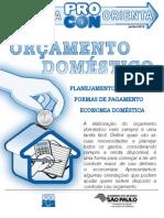 Orçamento Doméstico Procon SP