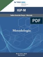 Metodologia Igp-m Maio de 2014