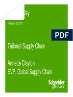 Investor Day Tailored Supply Chain