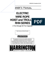 RHN Owners Manual - Hoists