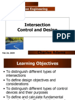 Intersection Control and Design I