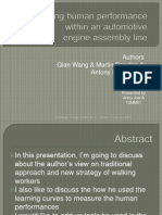 Modelling human performance within an automotiveengine assembly line