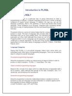 PL-SQL NOTES