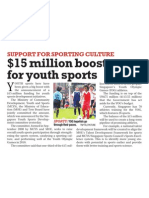 Youth Sports Development Initiatives Given S$15m Boost, 14 Apr 2009, New Paper