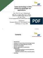 Potential for Passenger Car