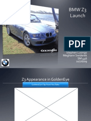 launching the bmw z3 roadster case ppt