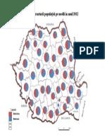 Harta Structurii Pe Medii in Anul 2012
