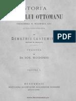 Dimitrie Cantemir-Istoria Imperiului Otoman (Partea I)