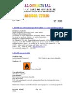 Fise Cu Date de Securitate Alcool Etilic