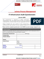 SwafeBPM_IT Infrastructure Audit Questionnaire-09v1