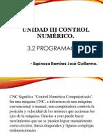 UNIDAD III Control Numérico.