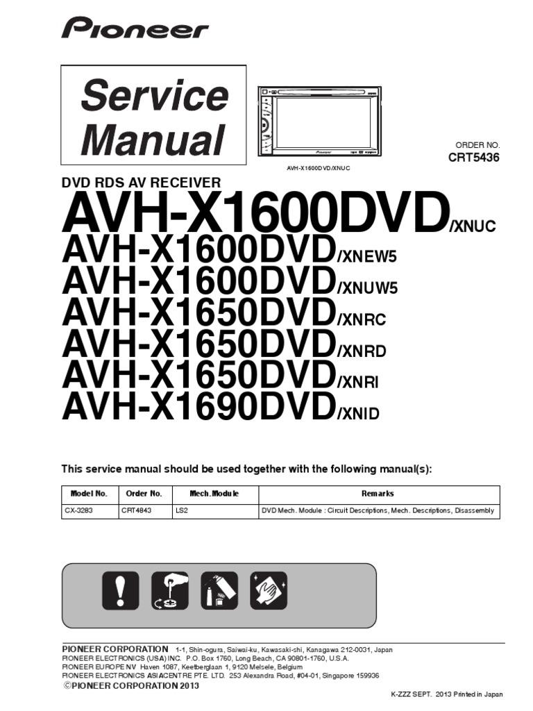 Remarkable Pioneer Avh X1600dvd Wiring-diagram Images - Best Image ...