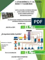 Destilación atmosférica y al vacío