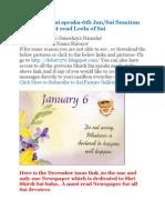 Shri Shirdi Sai Speaks for 6th Jan
