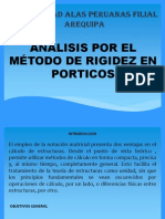 analisis de portico por el metodo de rigidez