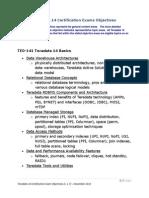 2013-01TD14 Live Exam Detailed Objectives v 1.7