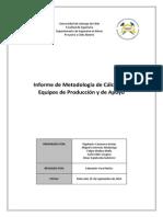 G8_metodologías de Cálculo de Equipos de Producción y de Apoyo