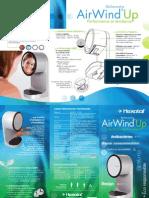 Sèche-mains à air pulsé antibactérien AirWind Up