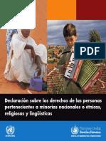 Declaración Sobre Los Derechos de Las Personas Pertenecientes...ONU