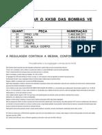 Manual de Regulagem KKSB e Referência Peças Para Isolamento