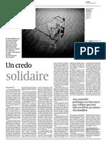 FR - Un Credo Solidaire - Le Temps, 13 Novembre 2014