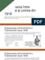Transilvania Între Revoluție Și Unirea Din 1918