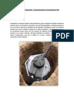 Manual de Operación y Mantenimiento de Biodigestor