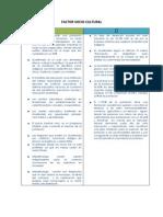 Resumen Factor Sociocultural