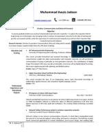 Research Based Sample CV (for Fresh Grads)