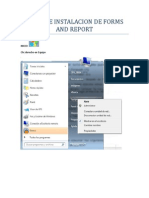 Pasos de Instalacion de Forms and Report