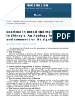 apology for poetry by sidney