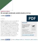 2014-11-27 EPdA El Concejal Condenado Asistirá Al Pleno Hoy