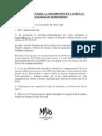 CONDICIONES DE INSCRIPCIÓN Español-English
