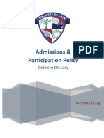 Admissions and Participation Policy CDL 2014