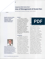management acute pain