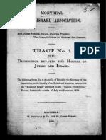 Distinctions Between the Houses of Israel and Judah