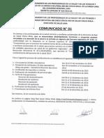 COMUNICADO 1 CNRSCHM