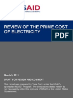 Cost of Electricity Review in Kyrgyzstan
