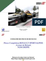 Catálogo Fórmula Renault 2010