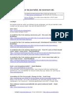 Bronnenlijst - De Nieuwe Rol Voor de Journalist - De Newsroom Etc