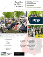 Liberation of Holland 70th Anniversary Tour Programme