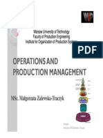 Operation and Manufacturing Processes