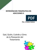 INTERVENCION TERAPEUTICA EN ADICCIONES II