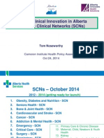 Driving Clinical Innovation in Alberta Strategic Clinical Networks (SCNs)