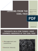 Banff Emerging Leaders Presentation - Lessons from the Coal Face