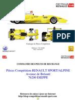 Catálogo Fórmula Renault 2007