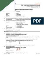 Ficha de seguridad de la acetona